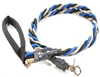 Bun-Gee Pup-EE Single Walker Dog Leash - Large / Blue/Black/Gold 6 Foot