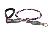 Bun-Gee Pup-EE Single Walker Dog Leash - Large / Pink/Black/Purple 6 Foot