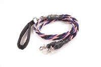 Bun-Gee Pup-EE Double Walker Dog Leash - Large / Pink/Black/Purple
