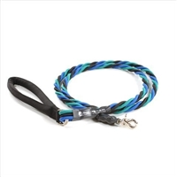 Bun-Gee Pup-EE Single Walker Dog Leash - Large / Teal/Blue/Black 6 Foot