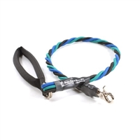 Bun-Gee Pup-EE Single Walker Dog Leash - Large / Teal/Blue/Black 3 Foot