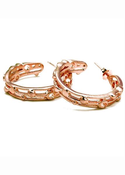 Atomic Small Hoop earrings by Janesko