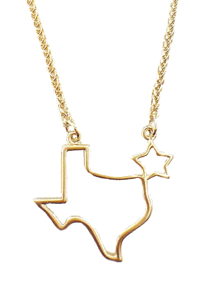 Traveler Texas necklace by Jennifer Janesko
