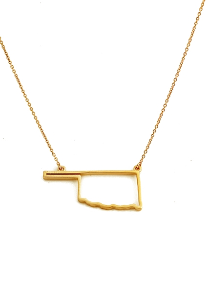 Traveler oklahoma necklace by Jennifer Janesko