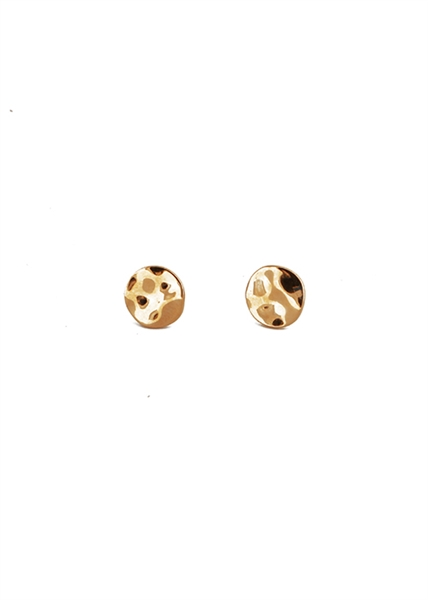 Coin Hammered Stud Earring by Janesko