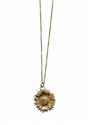 Traveler Sunflower necklace by Janesko