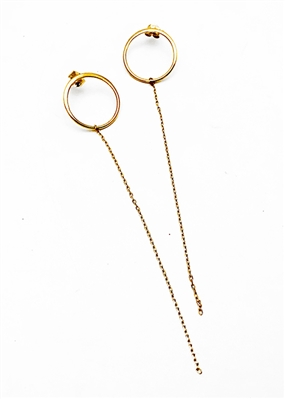 Overnight Hoop Earrings by jewelry designer Jennifer Janesko