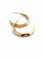 Corset Hex Hoop earrings by Janesko