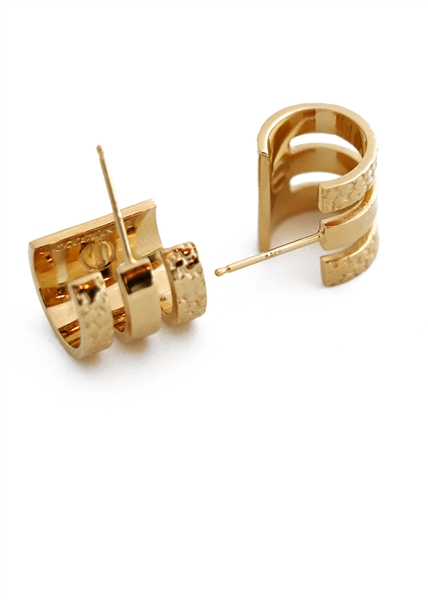 Corset Triple Huggie earrings by Janesko