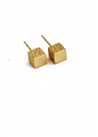 Corset Cube Stud earrings by Janesko