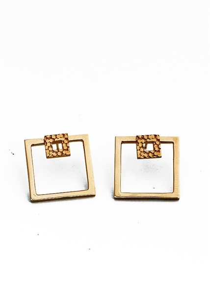 Corset Double Square Earring by Janesko