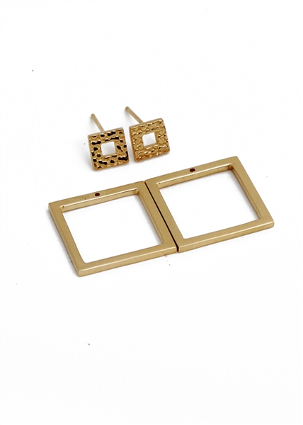 e8135bf24c6d22 Corset Collection : Corset Double Square Earring