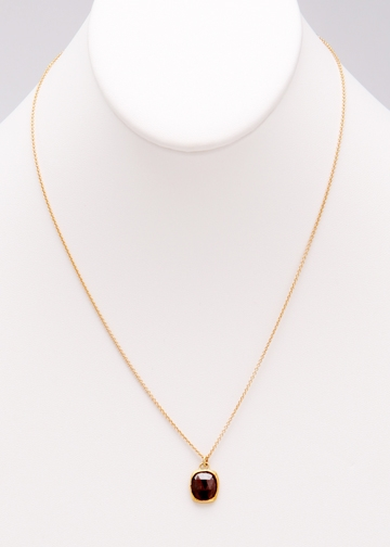 Custom brown diamond in yellow gold necklace by Janesko