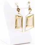 Custom citrine and diamond in yellow gold earrings by Janesko