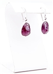 Custom Pink Sapphire and Fine Silver earrings by Janesko
