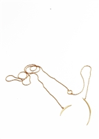 Curve Lariat Necklace by Janesko