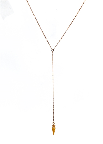 Plumb Bob Lariat Necklace by Janesko