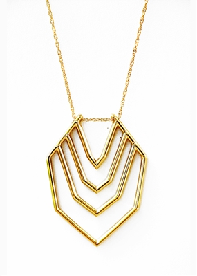 Herringbone Pendant Necklace by Janesko