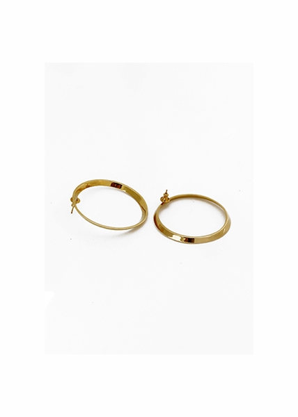 Beveled Hoops Small Earrings by Janesko