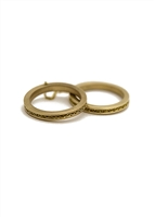 Custom 14k Double Chain Ring With Chain