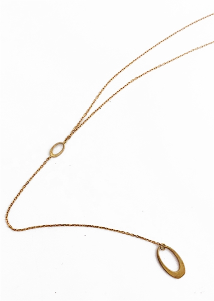 Custom Delicate Oval Necklace