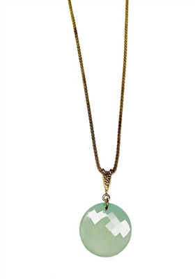 Custom Gold Aquamarine Pendant Necklace by Janesko
