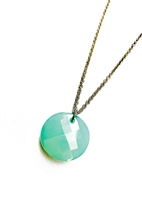 Custom Aquamarine Pendant Necklace by Janesko