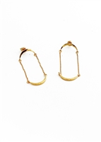 Custom Curve Chain Drop Earrings