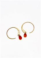 Custom Loop Hoop Earrings With Stone