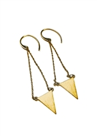 Custom Triangle Drop Earrings