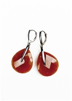 Custom Tong Earrings With Carnelian Stones