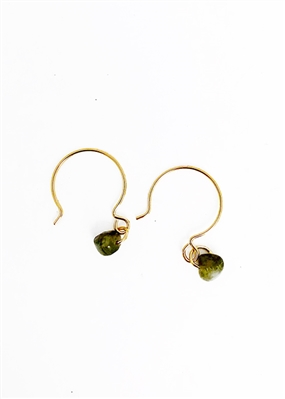 Custom Earrings With Tourmaline Stone