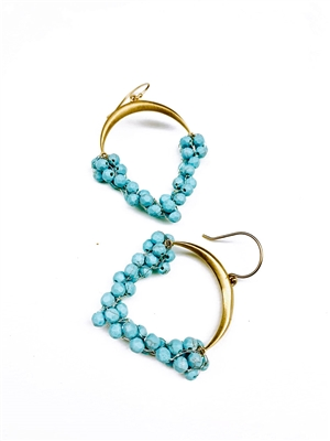 Custom Earrings With Turquoise Stones