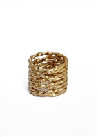 Custom Twisted Layer Statement Ring