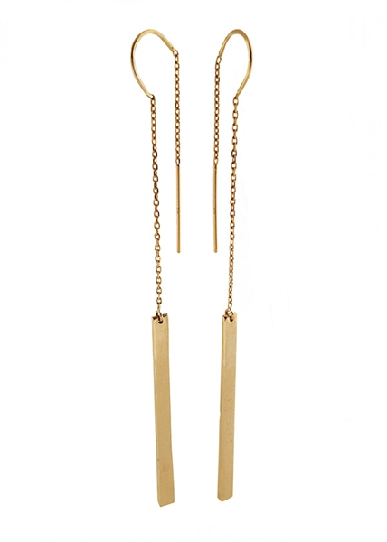Traveler runway threader long earring by Jennifer Janesko