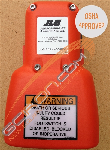 NEW JLG 1001117174 Genuine OEM JLG Foot Switch Pedal with Wire Harness