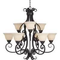 Manor 9-LT Multi-Tier Chandelier
