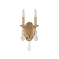 2LT Sconce w/Crystals Included