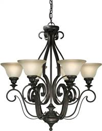 Forte Lighting 6LT Chandelier in Antique Bronze 2346-06-32