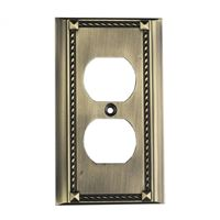 Clickplates 2-Socket Single Plate In Antique Brass