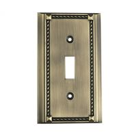 Clickplates Single Switch Plate In Antique Brass
