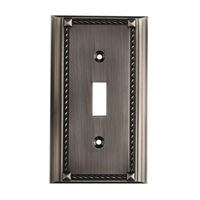 Clickplates Single Switch Plate In Antique Platinum