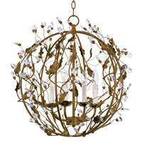 Elegante 4-LT Ball Entry Foyer Pendant