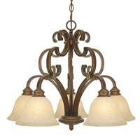 Golden Rockefeller CB 5 Light Nook Chandelier Champagne Bronze 3711-D5 CB