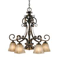 Golden Meridian 5 Light Nook Chandelier Golden Bronze 3890-D5 GB