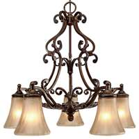Golden Loretto 5 Light Nook Chandelier Russet Bronze 4002-D5 RSB