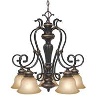 Golden Jefferson 5 Light Nook Chandelier Etruscan Bronze 6029-D5 EB