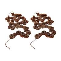 White Brush Palm Rule Garland - Set of 2
