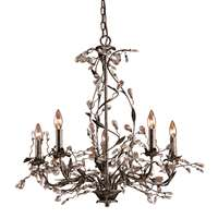 Circeo 5 Light Chandelier In Deep Rust