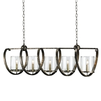 "Currey and Company Maximus 47"" Wide Bronze Chandelier"